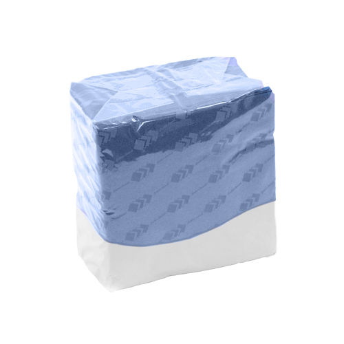 Serviettes bleues 2 plis photo du produit Front View L