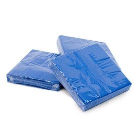 Serviettes bleues 2 plis photo du produit