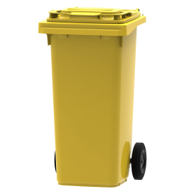 Mini-container 120 l, jaune photo du produit