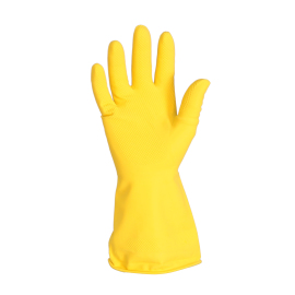 Gant ménager latex, taille L, jaune photo du produit