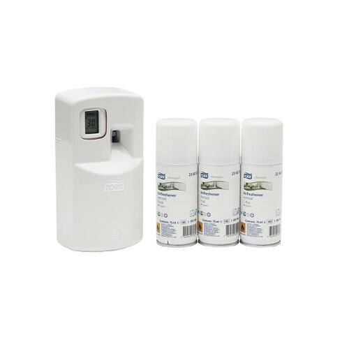 Tork Starter Pack Airfreshener Aerosol Electronic White (A1) product foto Front View L